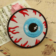 Goth Punk Rock Blooding Eyeball Embroidered Iron On Applique Motif Patch Love HF