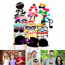 Funny DIY Masks Photo Booth Props Mustache On A Stick For Birthday Wedding Party