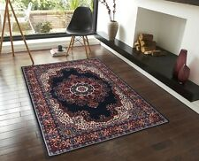 Extra Large Floor Rug Patterned Designer Blue FREE DELIVERY 330 x 240 6400X11
