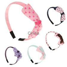 Cute Toddler Girls Bowk Dot Headbands Hair Bow Headwear Accessory Gifts-5 Colors