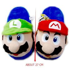 Cute Lovely Gifts Home Warm Super Mario Plush Slippers Red and Green Styles New