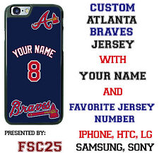 Custom ATLANTA BRAVES baseball Jersey phone Case Cover for iPhone 6 PLUS 5 4