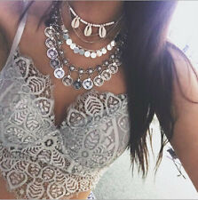 Chunky  Choker  Statement  vintage  Jewelry  Bib  Chain Pendant  Necklace