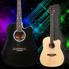 Trendy 41 Inch Dreadnought 6 Steel String Beginner Acoustic Guitar + Accessories