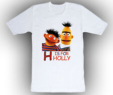 Personalized Sesame Street Bert & Ernie ABC Birthday T-Shirt Gift Add Your Name