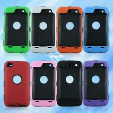 Impact Armor Hard & Soft Rubber Hybrid Cover Case For iPod Touch iTouch 4 4th 4G