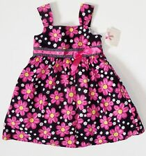 NWT Sophie Girls 5 6 Black Pink White Floral Daisy Summer Dress Party Sundress