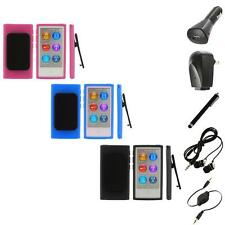 Color TPU Rubber Case Cover Belt Clip+Accessories for iPod Nano 7th Gen 7 7G
