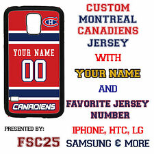 Custom MONTREAL CANADIENS Hockey Case Cover for Samsung s6 edge s5 s4 s3 Note 5
