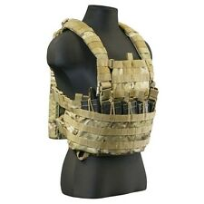 Tactical Assault Gear Combat Gladiator Chest Rig with Bib TAG GCR2 ACU Black Tan