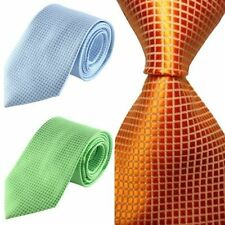 Stylish Checks Jacquard Woven Men's Tie Necktie Wedding Party with Party Ties