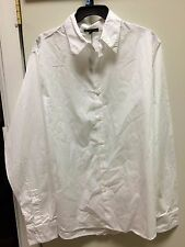 james perse button down white dress shirt  mens new