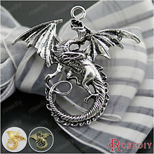 10PCS 47*43MM Zinc Alloy Big Dragon Pendants Jewelry Findings Accessories 27063