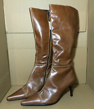 NEXT BROWN LEATHER LONG BOOTS, SIZE UK 9 / EURO 43