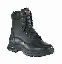 Iron Age Mens Black Leather 8in Met Guard Work Boots Reliable Steel Toe