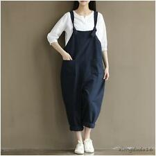 Women' Lose Cotton Leisure Overall Strap Romper Jumpsuit Fashion trousers pants
