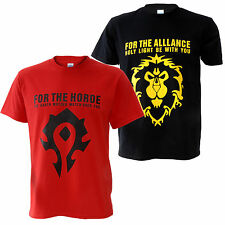 WOW World of Warcraft The Horde / Alliance Distressed Male T-Shirt Tee
