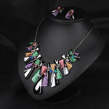 Crystal Chunky Chain Jewelry Necklace Choker Bib New Statement Pendant Women