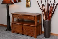 Lateral Filing Cabinet Solid Oak 2 tier Country Style #1045