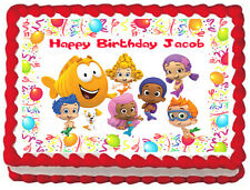 BUBBLE GUPPIES Party Edible image Cake topper Design