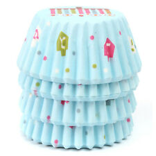 100Pcs Paper Cake Cupcake Baking Muffin Box Cup Case Party Tray Cake Mold Decor