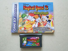 Disneys Magical Quest 3 Mickey Donald For Nintendo Game Boy Advance Game Cart +I