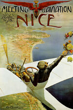 Vintage NICE AVIATION print on Paper or Canvas Giclee Poster