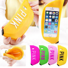Creative 3D Cute Lovely Banana Soft Silicone Cover Case Skin F Iphone 5S SE 6s ^