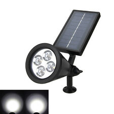 Outdoor 4-LED Solar Garden Lamp Pathway Spot Light Lawn Yard Landscape Lighting