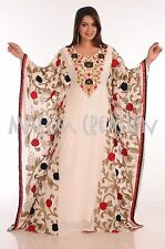 NEW JALABIYA JILBAB GEORGETTE MOROCCAN CAFTAN WEDDING GOWN MODERN DRESS  5071
