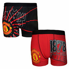 Manchester United FC Official Gift 1 Pair Mens Crest Boxer Shorts Soccer