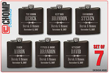 7 Personalized Engraved Flasks, Groomsman Gifts, Wedding Bridesmaid Party