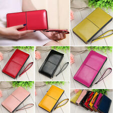 Ladies Leather Zipper Fashion Clutch Long Wallet Card Holder Handbag Bags