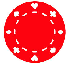 Poker Decal -  Poker Chip Sticker - Buy 1 Get 1 Free - Choose Color & Size