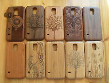 Fashion Carved Design Genuine Wooden Bamboo Case For Samsung Galaxy S5 SV i9600
