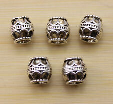 wholesale:20/40/100 pcs Retro style beautiful Tibet silver alloy interval beads
