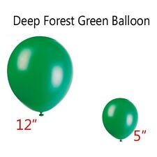 """5"""" or 12"""" Inch Forest Hunter Dark Green Round Latex Balloons Party Birthday 11"""