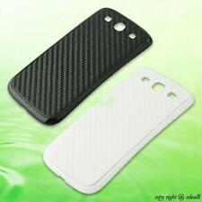 Carbon Fiber Skin Battery Door Back Cover Case For Samsung Galaxy S 3 SIII i9300