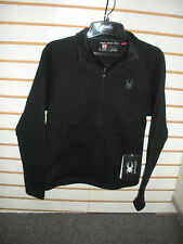 SPYDER MENS CONSTANT FULL ZIP MID WEIGHT CORE SWEATER- BLACK -507376- LARGE