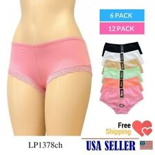 6pcs Lot Women Ladies Cotton Hipster Panties Lingerie Bikinis Lace M~XL LP1378CH