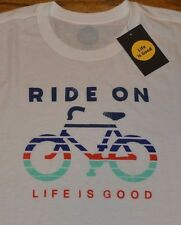 Life is Good T-Shirt RIDE ON Authentic Tee Men's Shirt MSRP $30.00 Bike Cycle