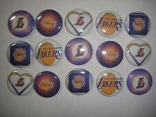 15 LA Lakers flat back or pin badge cabochons embellishments bow centers