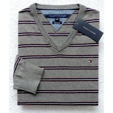 NWT Tommy Hilfiger Men's Cashmere Blend Vneck Striped Sweater Size: M