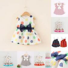 0-4Y Infants Baby Kids Girls Sleeveless Princess Dress Party Gown Casual Dresses
