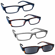 UV Reader Reading Glasses With Brown Sun Reader 4 Pack Mens Womens RRRS32-1272