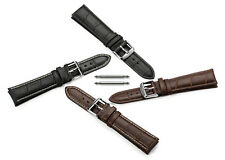 Croco Leather Watch Band Strap 14 16 18 19 20 21 22 mm Black Brown for Timex New