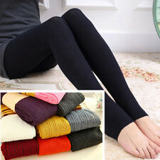 Fashion Warm Women's Cotton Blend Pants Comfortable Stirrup Leggings