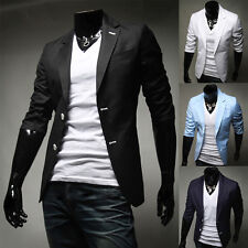 Mens Coat Jacket Blazers Slim Fit Stylish New Formal Casual Two Button Suit Hot