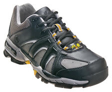 Nautilus Mens Steel Toe ESD Athletic M Black/Grey Leather Shoes