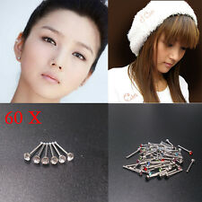 60x Wholesale Mixed Lot Color Rhinestone Nose Ring Studs Body Piercing Jewelry